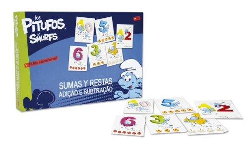 Los Pitufos - Sumas y restas, Juego de Mesa (Falomir 22022)