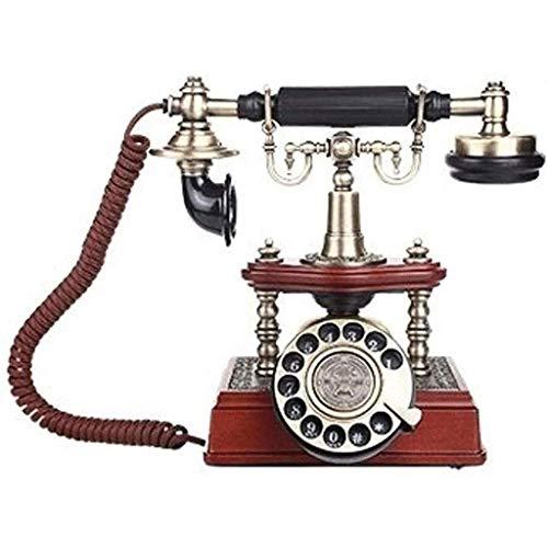 YUTRD Teléfono - Teléfono con Cable Digital de teléfono clásico Retro del Vintage Teléfono Fijo Decorativo Rotary Dail