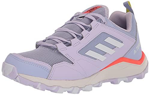 adidas Women's Terrex Agravic TR Trail Running Shoe, Violet Tone/White/Solar Red, 8