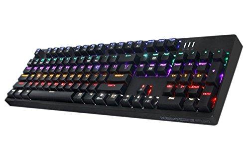 ABKO K660 Optical Switch (Kailh) Mechanical Custom Keyboard Rainbow LED, Quick Swap, Full Water Resistance, NKEY-Rollover (English/Korean Layout) (Black)