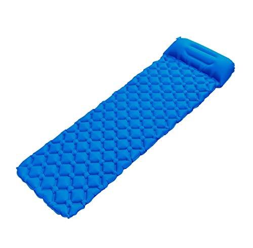 GZSC Saco de Dormir Cama de Aire Al Aire Libre Colchoneta de Camping Sofá Inflable 1 Persom Ultralight Saco de Dormir portátil liviano con Almohada Cojín Inflable (Color : Blue)