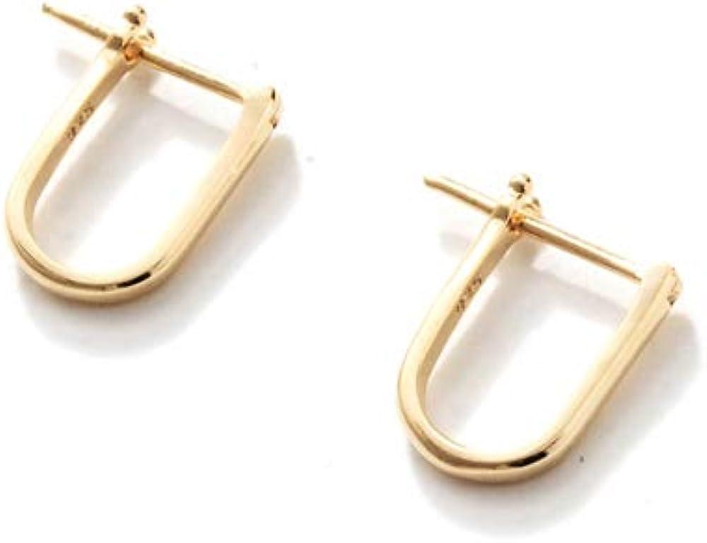 THATCH Eden Earrings 14k Gold Vermeil Oval Hoops