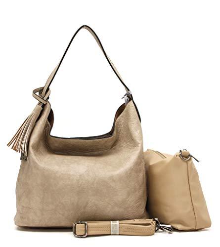 Xuna Handtaschen Modell mit innen Tasche (Beige)