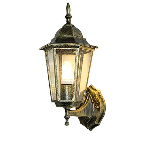 Mttdd Rustic Iron wandlamp, waterdicht, retro-buitenlamp, vloerlamp, zwart, wandlamp, buitenlamp, tuinverlichting, ingang, wandverlichting, MTT Small bronskleurig