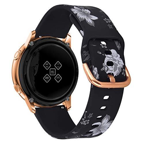 Sycreek Compatibile per Samsung Galaxy Active Cinturino in Silicone Morbido da 20mm Cinturino Sportivo Regolabile Sostituzione Cinturino per Samsung Active 2/Galaxy Watch 42mm/Galaxy Watch 3 41mm