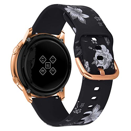 Sycreek Compatible para Samsung Galaxy Active Correa 20mm Pulsera Silicona Suave de Correa de Reloj Ajustable de Repuesto para Samsung Galaxy Watch 42mm/Gear Sport/Active 2 40mm/Active 2 44mm