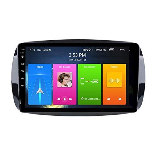BIEKANNM Navigatore Stereo per autoradio da 9 Pollici per Mercedes Benz Smart Fortwo 2016-2018, FM/Bluetooth/WiFi/SWC/Mirror Link/Telecamera Posteriore,4 Core-WiFi: 4+64G