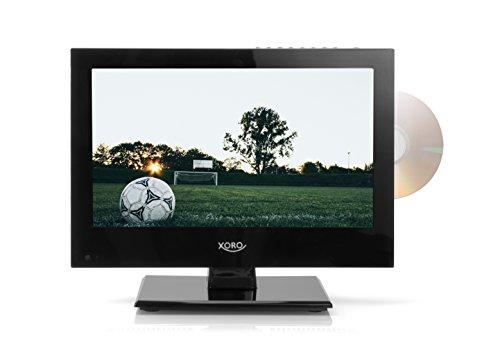 Xoro HTC 1346 33,78 cm (13,3 Zoll) LCD Fernseher (FullHD, Triple Tuner DVB-S2/T2/C, DVD Player, H.265/HEVC, Mediaplayer, USB 2.0, PVR Ready, Timeshift, 12V)