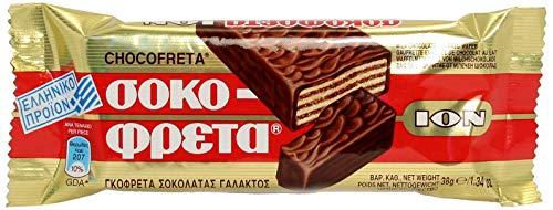 ION Greek Traditional Chocofreta - 10 Bars X 38g by N/A