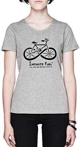 Infinite Fuel Blanca Mujer Camiseta Grey Women's T-Shirt tee