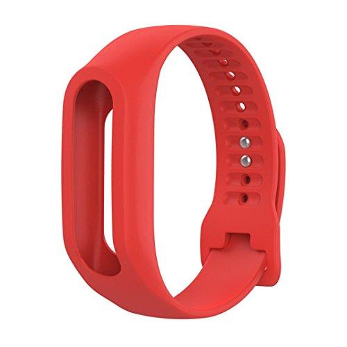 Silikon Ersatz Armband Bracelet,KIMODO Ersatz Silikon Band Strap für TomTom Touch Cardio Activity Tracker (Rot)