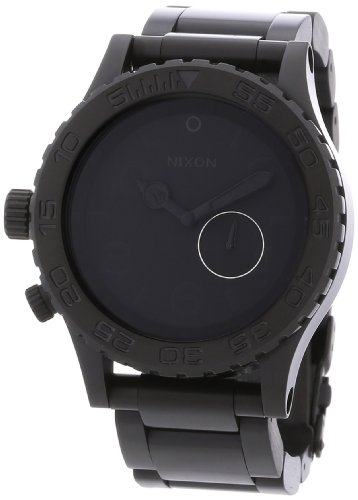 Nixon A035001-00 Tide All Stainless Steel Black Watch
