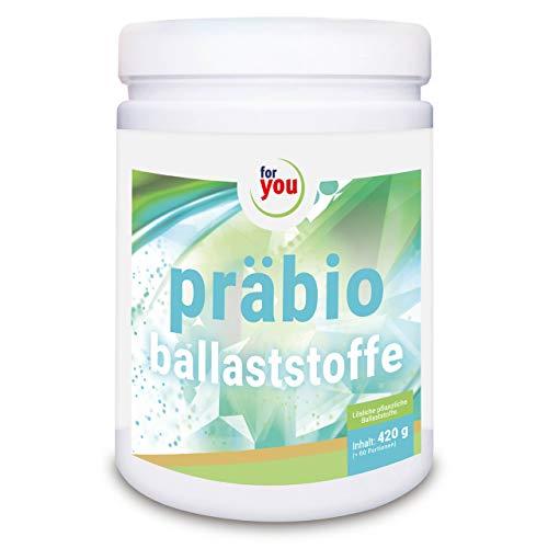 for you präbio ballaststoffe Pulver hochdosiert mit pflanzlichen Ballaststoffen aus Akazienfaser und resistentes Dextrin I Nahrungsergänzung Darmsanierung 100% natürlich I 420g Getränkepulver