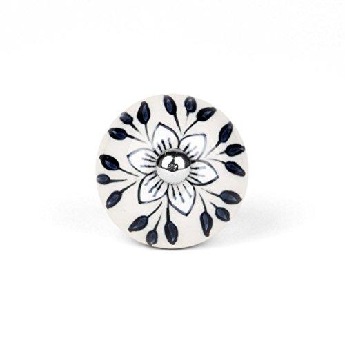Möbelknopf Sternblume creme