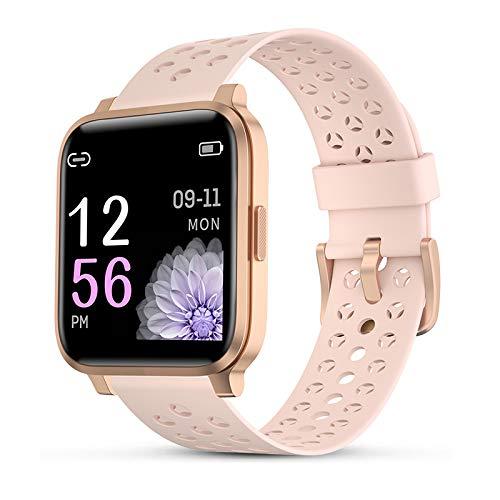 Smartwatch Donna, 1.3  Schermo Touch Completo Impermeabile Orologio Fitness Tracker con Cardiofrequenzimetro del Sonno Pedometro Cronometro Notifica di Chiamata SMS Smart Watch per iPhone Android