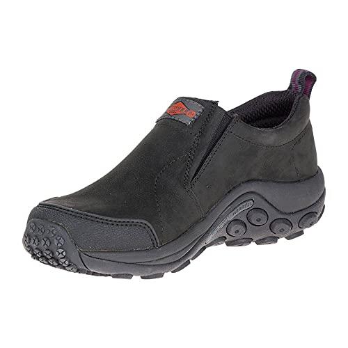 Merrell Women's Jungle Moc Slip Resistant Work Shoe Construction, Black, 7.5