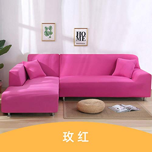 Funda de sofá elástica Gris Fundas de sofá con Funda elástica para Sala de Estar Cubre Corner Sofá Funda Funda Sofá Chaise Cover Lounge, Naranja, 3 plazas 190-230cm