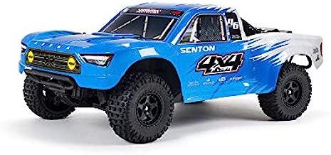 ARRMA 1/10 SENTON 4X4 V3 MEGA 550 Brushed Short Course RC Truck RTR (Transmitter, Receiver, NiMH Battery and Charger Included), Blue, ARA4203V3T2