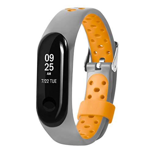 Pulsera Xiaomi Mi Band 3, Zolimx Suave de Silicona Sports Band para Xiaomi Mi Band 3 Original Correas de Reloj Inteligente Pulseras de Repuesto (Naranja)