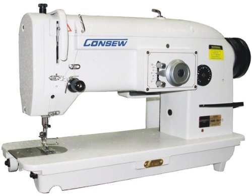 Lowest Prices! Consew 199R single-needle, drop-feed Stitch Type-3A w/ Table & Motor (Table Comes Ass...