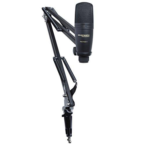 Marantz Professional Pod Pack 1 - Kit Completo per il Podcast con Microfono a Condensatore USB, Braccio Regolabile e Cavo USB