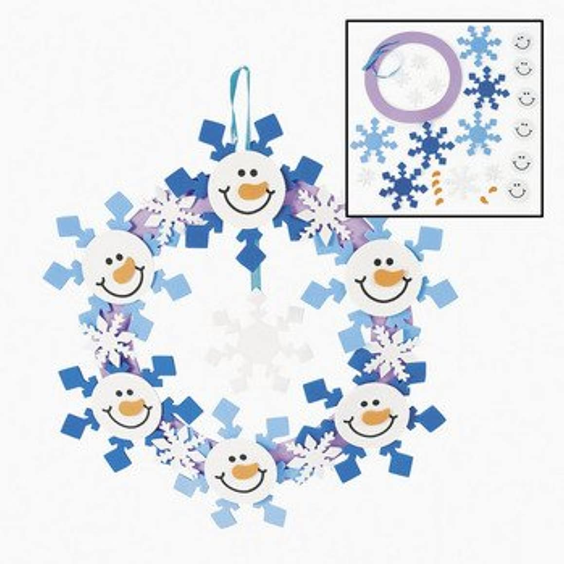 Foam Snowman Wreath Craft Kit - Crafts for Kids and Decoration Crafts-makes 12