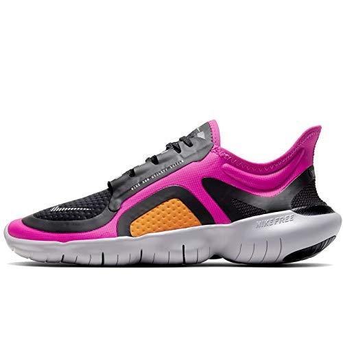 Nike Damen WMNS Free Rn 5.0 Shield Laufschuhe, Fire Pink/Metallic Silver/Black, 42 EU