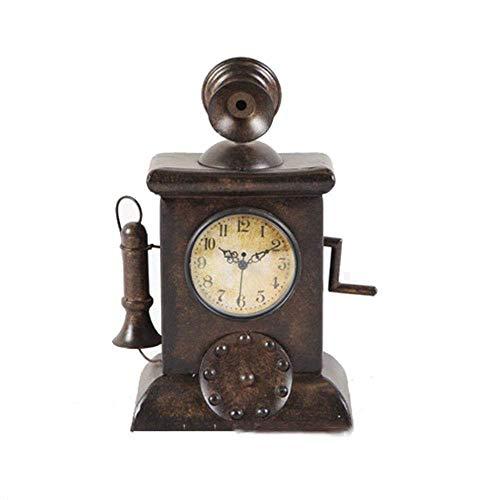 Reloj Manto Reloj de Escritorio, Reloj Decorativo Reloj de péndulo Hierro, Despertador