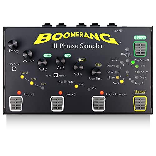 Guitar Looper Pedal BOOMERANG III Phrase Sampler - 4 Serial Play Styles Loop Station...