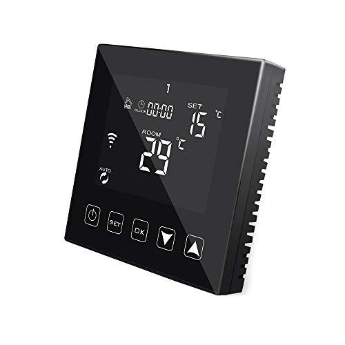 KETOTEK WiFi Thermostat für Fußbodenheizung Wasser Heizung 3A Kompatibel mit Alexa Echo/Google Home/Tuya Smart Life APP, Intelligent Raumthermostat Warmwasser