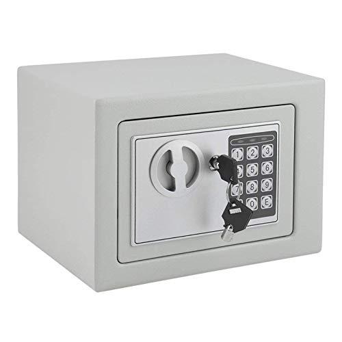 WERCHW Caja de Seguridad electrónica, hogar y Oficina con Teclado Digital y Llaves, Cajas de Seguridad de Dinero, Cajas de Seguridad para Casas en el hogar Habitaciones de hoteles Joyería de Negocios