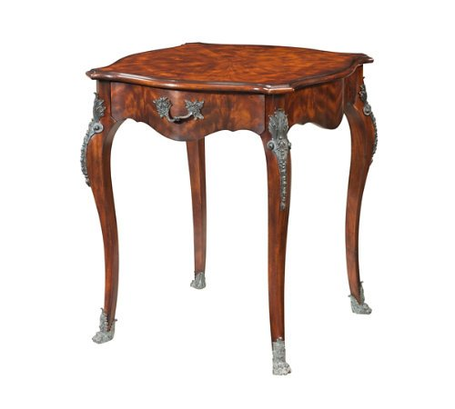Theodore Alexander 5005-342 French Louis XV 1 Drawer Mahogany Table w. Bronze Mounts ~ New