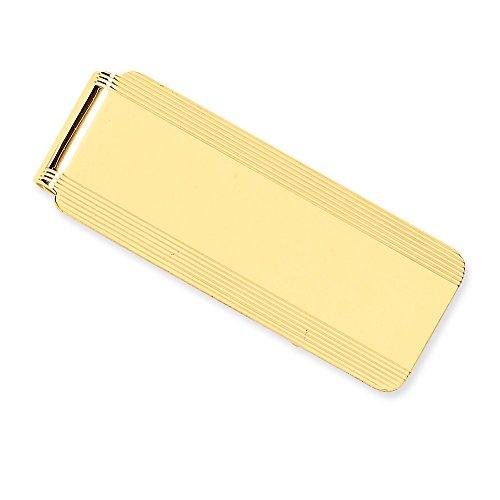 14 quilates sólido pulido grabable dinero clip joyería regalos para hombres
