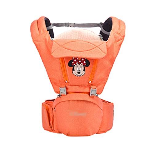Tabouret À La Taille Harnais pour Enfant Universel Quatre Saisons Écharpe Multifonctions Siège pour Enfant À Tenue Frontale 15 Kg (Color : Minnie Orange, Size : 3-36 Months)