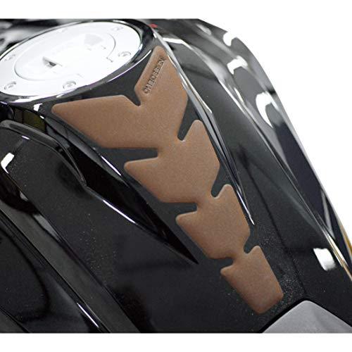 Anniversary - Protector de depósito para moto, aspecto de piel, color marrón