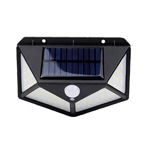 Las Luces solares al Aire Libre lámpara de Pared Desarrollado inalámbrico 100 Impermeable de la Seguridad del Sensor Remoto de Navidad de Control LED para el jardín