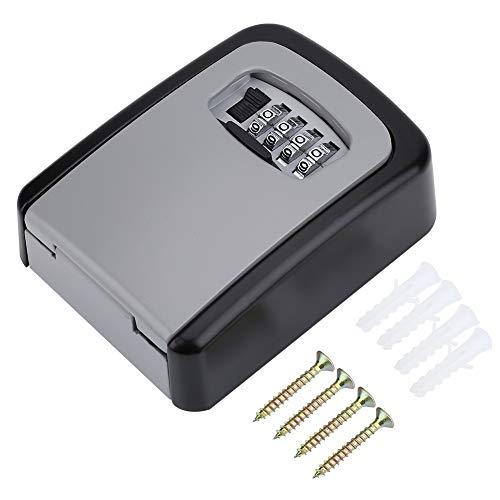 Key Lock Box-4 Digit Wachtwoord Wandbevestiging Sleutelbeveiliging Code Keys Houder Opslag Lock Box Case