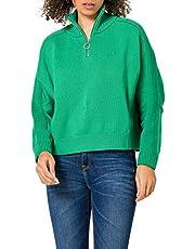 Tommy Hilfiger Kvinnor Zip-up High nk Swt Ls-tröja