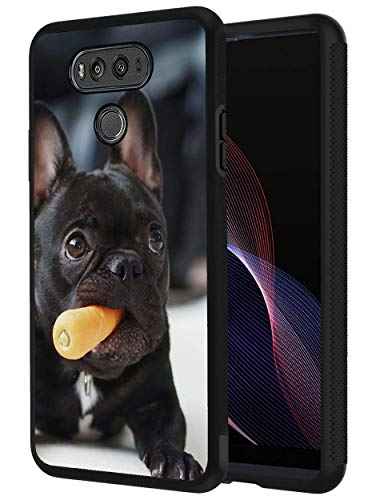 Molarepi Case for LG G6, Slim Anti-Scratch Shockproof Silicone TPU Protective Cover for LG G6 - French Bulldog