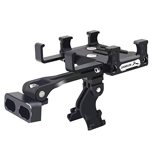 jiankun Soporte de teléfono para bicicleta de montaña (aluminio), color negro