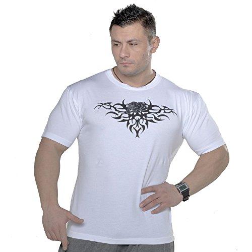 Preisvergleich Produktbild STILYA SPORTSWEAR COMPANY Herren Shirt T-Shirt Stretch Shirt Bodybuilding Gym 2708-ST weiß 3XL