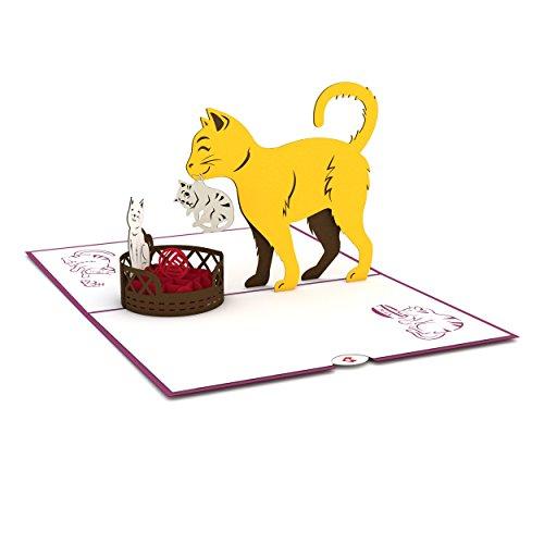 Lovepop Cat Mom Pop Up Card - 3D Card, Mother's Day Card, Animal Card, Pop Up Card, Mother's Day Greeting Card, Card for Mom, Cat Card, Kitten Card Photo #3