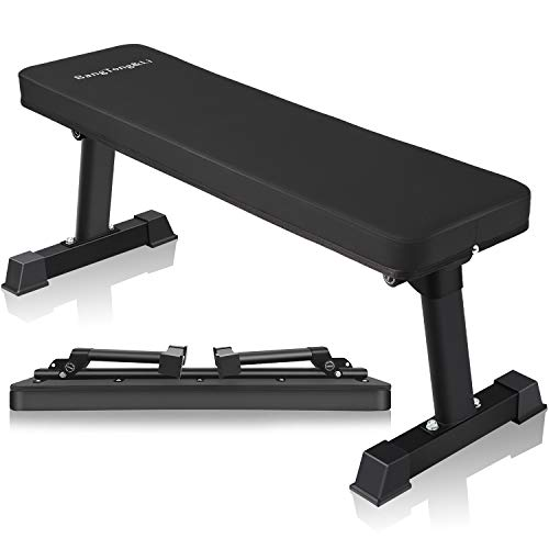 BangTong&Li Adjustable Bench,Utility Weight Bench for Full Body Workout- Multi-Purpose Foldable (Black)