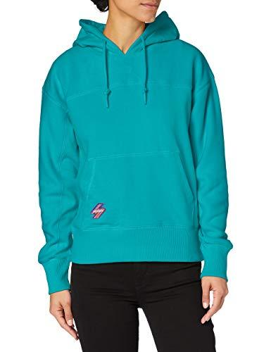 Superdry Womens Sportstyle NRG Polar Hood Hooded Sweatshirt, Lapis, 6