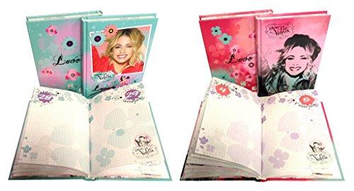 nuova serie diario VIOLETTA segreto con scatola,scuola,gioco collezione