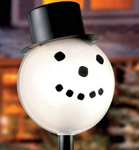 TisYourSeason Halloween & Christmas Lamppost/Lamp Cover Shade Outdoor Halloween and Christmas Decoration (Snowman Head Christmas Outdoor Light Lightpost/Lamppost Cover)