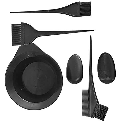 Hair Dye Kit Hair Colouring Tools Hairdressing Tool Hair Color Dye Bowl Comb Brushes Kit with Bleach Mixing Bowl Comb Salon Hair Dye Brush Kit for DIY Hair Coloring Hairdressing Hair Salon 5Pcs