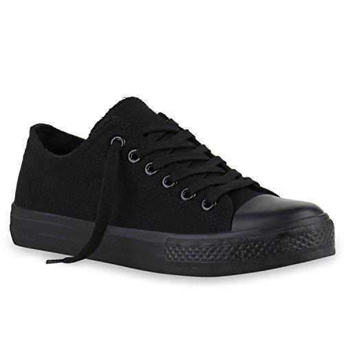 stiefelparadies Damen Schuhe 139363 Sneakers SCHWARZ SCHWARZ 37 Flandell