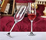VOLGAS Wine Glass Red or White Wine Champagne Flutes, Crystal Glass, 165 ml ( 2 pcs )