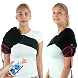 Creatrill Shoulder Heating Pad with Remote Control, Heated Brace Wrap Support W/Auto Shut Off, Moist Heat Therapy for Injury Rotator Cuff Pain Frozen Shoulder Dislocation